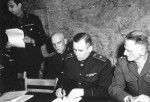 Soviet General Ivan Susloparov signing the documents of Germany