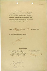 German instrument of surrender, page 2 of 2; note signatures of Jodl, Smith, Sousloparov, and Sevez