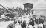 Japanese POWs put to work as laborers for USMC, Betio, Tarawa Atoll, 22 Nov 1943