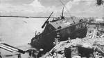 LVT disabled on Red 1 Beach, Betio, Tarawa Atoll, 21 Nov 1943