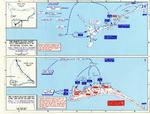 Map depicting the invasion of Makin and Tarawa Atolls, Gilbert Islands, 20-23 Nov 1943