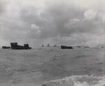 Landing barges and LCT craft at Tarawa, Gilbert Islands, Nov 1943