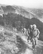 Troops of US 85th Division on Mount Verruca, Italy, 1944