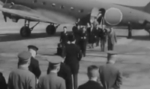 José Laurel and the Filipino delegation arriving for Greater East Asia Conference, Tokyo, Japan, 5 Nov 1943