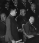 Ba Maw speaking at the Greater East Asia Conference, Tokyo, Japan, 5 Nov 1943