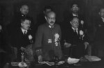 Hideki Tojo speaking at the Greater East Asia Conference, Tokyo, Japan, 5 Nov 1943, photo 2 of 2