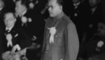 Subhash Chandra Bose speaking at the Greater East Asia Conference, Tokyo, Japan, 5 Nov 1943, photo 2 of 2