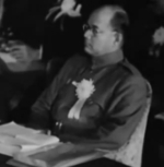 Subhash Chandra Bose at the Greater East Asia Conference, Tokyo, Japan, 5 Nov 1943
