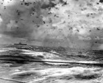 USS Enterprise in action during Battle of the Santa Cruz Islands, 25-27 Oct 1942
