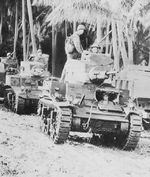 American M2A4 light tanks at Guadalcanal, circa Aug 1942-1945