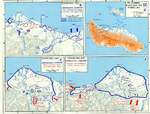 Maps of several Guadalcanal Campaign engagements, mid- to late-1942