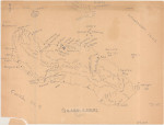 Hand-drawn map of Guadalcanal, 6 Mar 1944