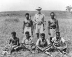 British Solomon Islands scouts with Capt Martin Clemons on Guadalcanal, 1942