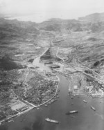 Aerial photo of Nagasaki, Japan, late 1945