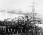 Damaged electrical substation, Nagasaki, Japan, early 1946