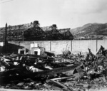 Destroyed industrial buildings, Nagasaki, Japan, early 1946