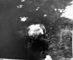 Mushroom cloud over Nagasaki, Japan, 9 Aug 1945, photo 1 of 9