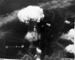Mushroom cloud over Nagasaki, Japan, 9 Aug 1945, photo 5 of 9