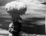 Mushroom cloud over Nagasaki, Japan, 9 Aug 1945, photo 6 of 9