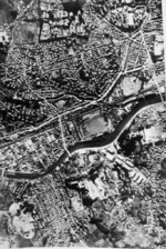 Aerial photo of Nagasaki, Japan, early 1946
