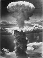 Mushroom cloud over Nagasaki, Japan, 9 Aug 1945, photo 9 of 9