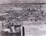The devastation of Hiroshima, Japan viewed from the Red Cross Hospital, Aug-Sep 1945