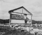 Ruins of a school building, Hiroshima, Japan, 17 Nov 1945