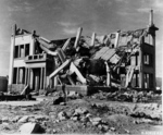 Destroyed Chugoku Coal Distribution Company building in Hiroshima, Japan, 8 Nov 1945, photo 3 of 3