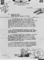 Letter from US War Department to Carl Spaatz, ordering the use of atomic weapons, 25 Jul 1945