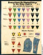 Illustration of German concentration camp prisoner identification system, 1936