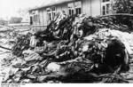 Clothing of prisoners of Sachsenhausen concentration camp who had recently been killed, Oranienburg, Brandenburg, Germany, circa 1936-1945