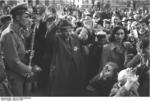 Hungarian and German soldiers rounding up Jews in Budapest, Hungary, Oct 1944
