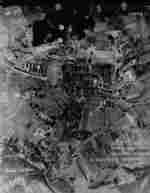 Aerial view of the Bergkristall complex of the Mauthausen-Gusen Concentration Camp, Austria, 14 Apr 1945