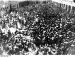 Prisoners of Mauthausen Concentration Camp in Austria being gathered for mass disinfection, date unknown