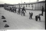 Prisoners of Mauthausen Concentration Camp in Austria in exercise, date unknown