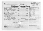 Camp file of Jerzy Kazmirkiewicz, Polish political prisoner number 382 at Mauthausen-Gusen Concentration Camp, Austria