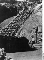 Mauthausen Concentration Camp prisoners working in the quarry, Austria, date unknown