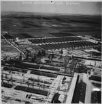 Aerial photo of Dachau Concentration Camp, Germany, circa May-Jun 1945