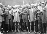 Recently liberated prisoners of a concentration camp near Ebensee, Austria, 7 May 1945