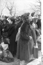 Jewish women being rounded up, Ioannina, Greece, 25 Mar 1944