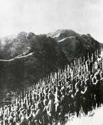 Troops of the Japanese 15th Army preparing to cross into Burma, late Dec 1941