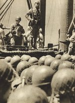 Men of Japanese 2nd Yokosuka Naval Landing Force on a transport en route to Borneo, Dutch East Indies, Dec 1941