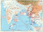Map showing Japanese offensives in Malaya, Burma, and the Indian Ocean, Jan-May 1942