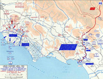 Map of Anzio-Cassino area in Italy, 17 Jan-19 Feb 1944