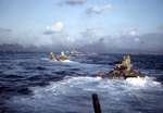 LVTs underway off Iwo Jima, 19 Feb 1945