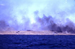 LCS(L), in right center, bombarding the shore, probably during the pre-landing bombardment of Iwo Jima, 19 Feb 1945