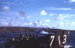 LCVP from LST-713 off northern Iwo Jima, Feb 1945