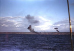 Smoke rising from Beach Blue Two at Iwo Jima, probably during the pre-landing bombardment, 19 Feb 1945