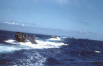 LCVPs from USS Sanborn underway off Iwo Jima, in mid or late Feb 1945, photo 1 of 2