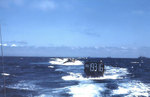 LCVPs from USS Sanborn underway off Iwo Jima, in mid or late Feb 1945, photo 2 of 2